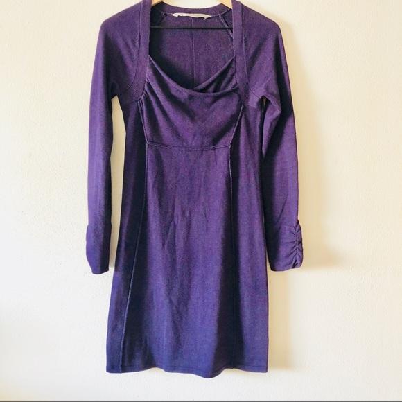 e053a3c6bd6 Athleta Dresses   Skirts - Athleta long sleeve purple dress